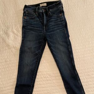 """Madewell jeans 10"""" high rise skinny size 26"""